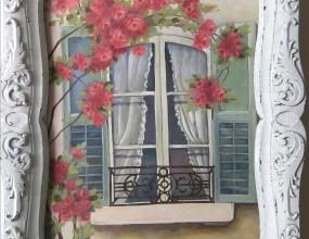 아크릴로 그리는 꽃 그림 ^^